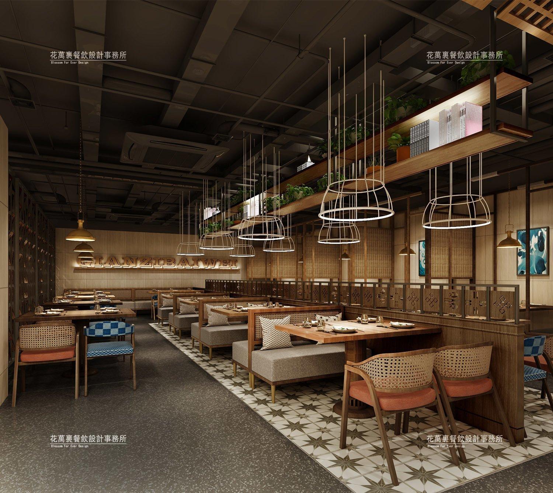 火锅店设计中,常规的中式风格有哪些特点?